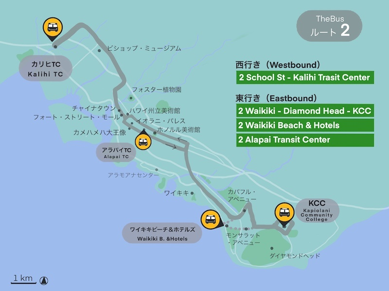 ハワイ2番バス
